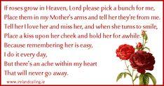 I miss my mom ♥                                      Funeral Poem Image copyright Ireland Calling