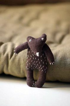 The Brown Bear. Brooch by adatine on Etsy, $23.00