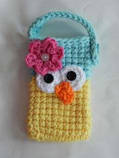 Crocheted Owl Cell Phone/ IPhone / Small Gadget by AprilsCrafts, $10.00