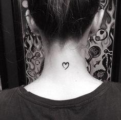 Small heart tattoo by Patricia Fedrigo