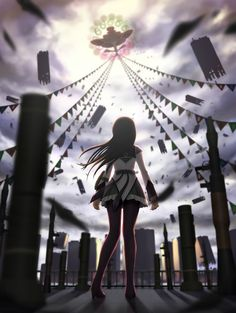 Homura Akemi | Puella Magi Madoka Magica‎::About to face off against Walpurgis Night