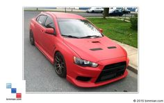 Car Painted With Matte Red -  - Plasti Dip Trim Paint  - Photo #25