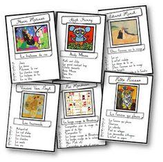 """J'ai adoré le jeu des sept familles proposé par Marevann pour découvrir les grands peintres. J'en ai donc fabriqué un """"spécial Musette S..."""