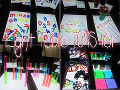 Light Table TOYS 101- great list of inexpensive toys and activities
