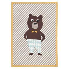 Krabbeldecken Traum und Quilt mit appliziertem Bär, Baumwolle, von Ferm Living