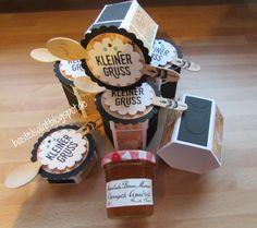 6-Eck-Box für kleine Marmeladengläser inkl. Anleitung Stampin' Up!