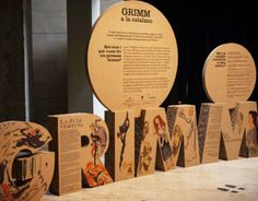 GRIMM a la Catalana: Projecte expositiu itinerantTravelling exhibition that shows the differences in the original stories comparing them GRIMM Catalan versions.