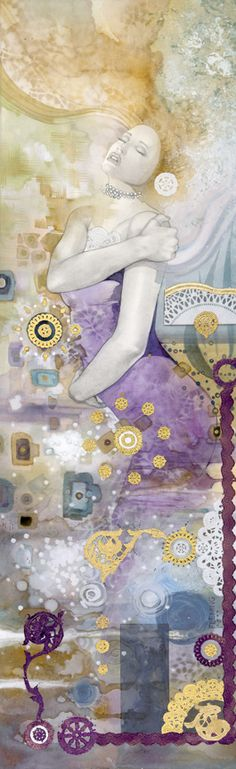"""Second piece in a my """"Mind, Body & Soul"""" series. Available as custom framed Giclees on canvas or watercolor paper."""