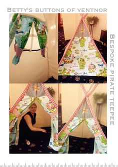 Bespoke Pirate teepee. Betty's Buttons of Ventnor (Facebook). Www.bettys-buttons.co.uk