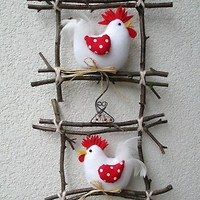 Prodané zboží od Jalis - Big Mäc Salat Felt Crafts, Easter Crafts, Fabric Crafts, Diy And Crafts, Christmas Crafts, Crafts For Kids, Arts And Crafts, Christmas Ornaments, Chicken Crafts