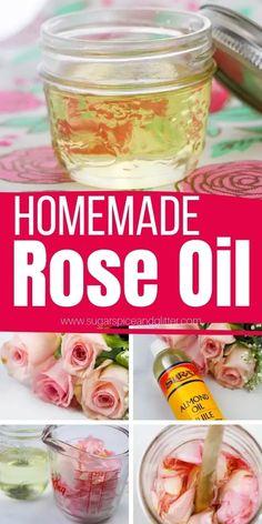 Rose Oil For Skin, Oils For Skin, Making Essential Oils, Rose Essential Oil, How To Make Rose, How To Make Homemade, Rose Oil Benefits, Homemade Rose Water, Fresh Rose Petals
