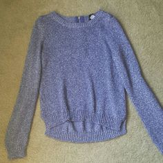 Gorgeous sparkle sweater Purple with silver, zipper in back. This is a gorgeous sweater, gently worn. H&M Sweaters