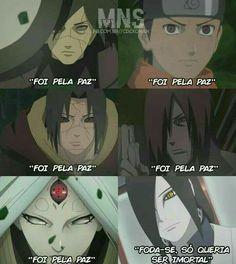 """""""It was for peace"""" - all """"fuck you, I just wanted to be immortal"""" - orochimaru Naruto Meme, Naruto Quotes, Naruto Funny, Naruto Art, Naruto Shippuden Sasuke, Shikamaru, Itachi Uchiha, Kakashi, Otaku Meme"""