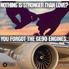 From @flylikeromano Yes nothing is stronger than love for this Boeing 777 engine.  #cabincrew #cabinattendant #flightattendant #crewfie #crewlife #boeing #b777 #b77w #B772 #B773 #GE90 #generalelectric #flightattendantlife #crewiser #crewmember #cabinattendanttrainee #cabinattendantlife #crewiser #airplane #flying #travel #stewardess #aircrew #flightcrew #crewlifestyle #flightattendants #airline #airlines #cabincrewlifestyle #plane