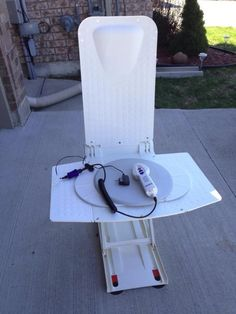 Aquatec Bath Lift and Reclining Seat - VarageSale with pivoting disk on a slider board for easy transfer. ONLY $100.