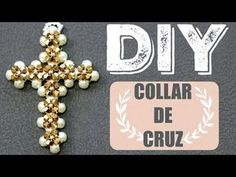 DIY! COLLAR DE CRUZ PARA REGALAR! DIY CROSS NECKLACE PAOLA HERRERA - YouTube Homemade Jewelry, Diy Jewelry, Beaded Jewelry, Jewelry Making, Beaded Bracelets, Beading Techniques, Beading Tutorials, Beading Patterns, Crochet Bracelet Pattern