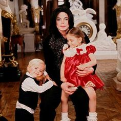 Michael with Prince and Paris at Neverland