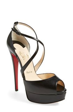 Christian Louboutin 'Cross Me' Platform Sandal available at #Nordstrom