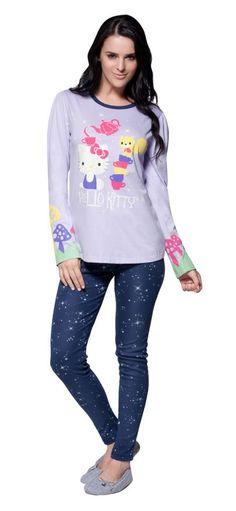 Linha Galaxy - Pijamas Hello Kitty Lua Luá