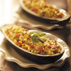 Vegetable-Stuffed Eggplant Recipe - when making these with the kindy children, we use the microwave rather than a frypan to pre-cook the stuffing