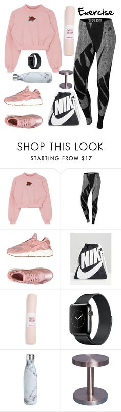 """""""Mood."""" by mississippimsu ❤ liked on Polyvore featuring NIKE, ban.do and S'well"""