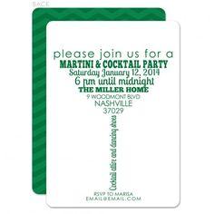 Martini Invitation Cocktail Party Invitation 30th birthday