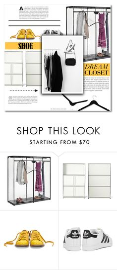 """Dream closet"" by dolly-valkyrie ❤ liked on Polyvore featuring interior, interiors, interior design, home, home decor, interior decorating, Improvements, Bill Blass, adidas Originals and Honey-Can-Do"