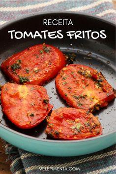 A receita desses tomates fritos vem do livro Jerus - Torta Sandwich Ideas Go Veggie, Veggie Recipes, Vegetarian Recipes, Healthy Recipes, A Food, Good Food, Food And Drink, Going Vegan, Easy Meals
