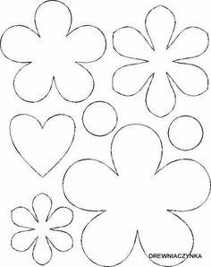 Flower template coloring page Felt Flowers Patterns, Felt Patterns, Applique Patterns, Handmade Flowers, Diy Flowers, Fabric Flowers, Paper Flowers, Bouquet Flowers, Flower Template