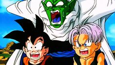 Everyone's face when Gohan showed up on the scene. Priceless! #DBZ Again, another prime example of the wonderful expressions Piccolo pulls.