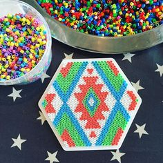 Coaster hama beads by stuffbylina