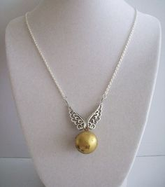 Another awesome snitch necklace! From #MerelaniDesigns #etsy shop!