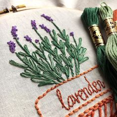 I just love picking out plants for my garden once spring rolls around. It's hard to not go overboard (just ask my husband!) I've never tried planting lavender before but I think I'm going to need to carve out some space for it this year. --- A peek at this lavender embroidery design reveals just one of the 9 different downloadable herb patterns I'll be releasing at the beginning of April! Join my newsletter to be the first to know when they are available plus I'll be sharing some fun…