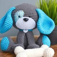 Crocheting: Domino The Dog Amigurumi Crochet Pattern