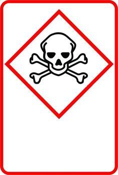 Indicator de securitate de semnalizare produse chimice - model 2