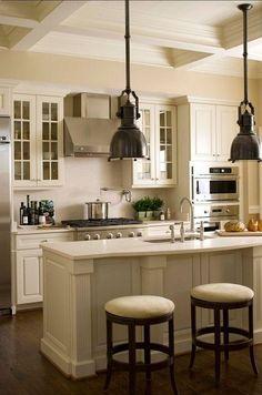 White Kitchen Cabinet Paint Color: Linen white 912 Benjamin Moore #PaintColor #Kitchen #Cabinet Paint Color