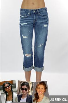 AG Jeans The Ex Boyfriend Crop Jean in 17 Years Damaged      Want.....so...bad.....