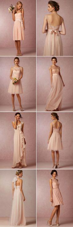 Blush bridesmaid dresses | BHLDN