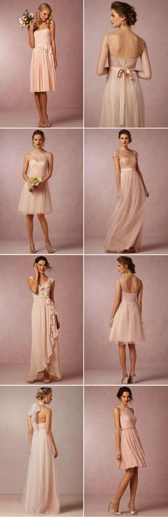 Blush bridesmaid dresses | BHLDN http://rstyle.me/n/ekv8bn2bn