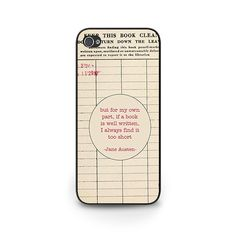 Cheap cover for iphone, Buy Quality case cover directly from China cover fashion Suppliers: Jane Austen Quote fashion case cover for iphone 4 5 SE 6 6 plus plus 7 7 Plus Iphone 5c, Iphone Cases, Jane Austen Quotes, Nerd Gifts, Book Gifts, Library Card, Samsung, Kids Nutrition, Book Nerd
