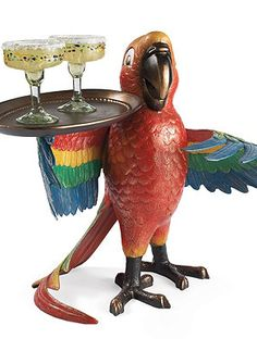 WANT!!!! all of you should pool you resources and give me this sometime in 2014.  No gifts required for two years.....Parrot Butler!