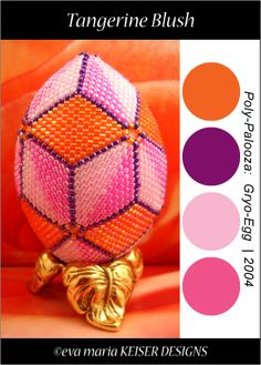 """Tangerine Blush - from the Poly-Palooza Series...""""Gyro-Egg""""  