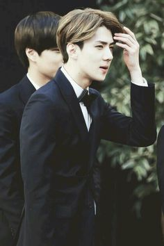 Fab Sehun with bow tie