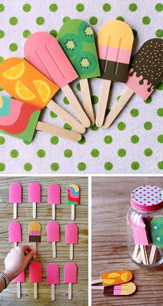 DIY Holiday Projects - paper popsicle memory game
