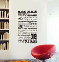 Adesivo AME MAIS.. http://www.madamegrude.com.br/produtos/texto-ame-mais.html