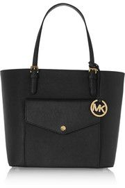 Jet Set textured-leather tote