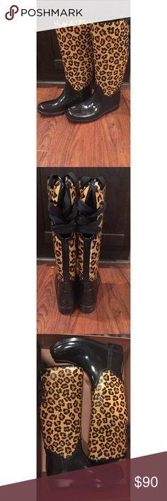 COACH boots Cheetah Print COACH boots. Size 10. EXCELLENT CONDITION. Worn once. No scuffs. Coach Shoes Winter & Rain Boots