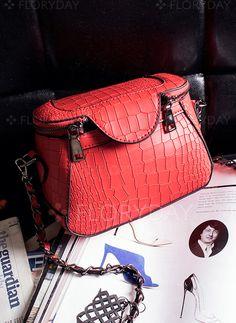 Bags - $21.44 - Shoulder Fashion PU Black Gray Red Small Bags (1825101167)