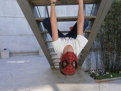 Home araña en acción (Irene)