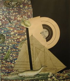Varujan Boghosian(American, b.1926) Black Mast 2010 mixed...